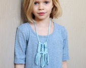 macrame fringe necklace - little livly