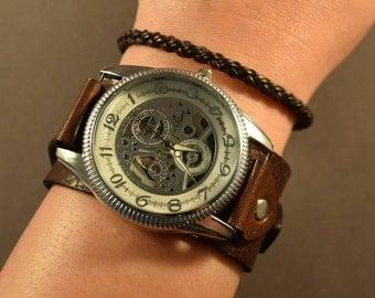 Women Watches-Retro Watch-Gift For Women-Birthday Gift For Her-Birthday Gift For Friend-Wrist Watch Women-Bracelet Watch-Brown Watch