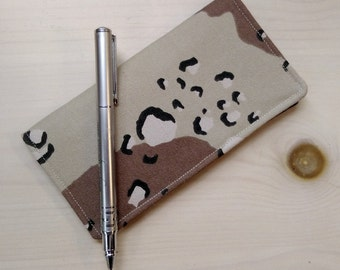 Camo Checkbook Cover- Fabric Checkbook Cover- Military Gift- Father's Day- Gift For Veteran- Men's Checkbook Cover- American Hero