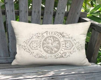 Taillade Lumbar Pillow Cover - French Country Farmhouse Pillow - 12x18 12x20 12x24 14x20 14x22 14x26 16x20 16x24 16x26 Inch Cushion Cover