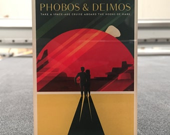 SpaceX Mars travel poster Magnet Phobos and Deimos