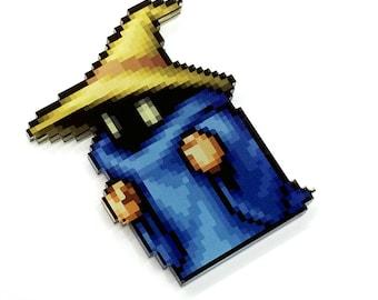 Black Mage Final Fantasy Pixel Art Sprite Magnet