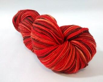 Toffee Crisp sparkle merino nylon sock yarn