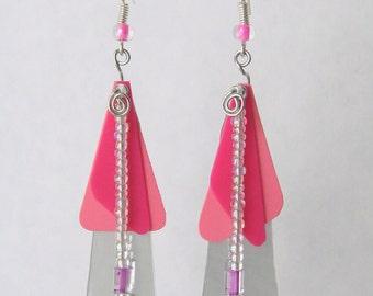 Pink CD Earrings