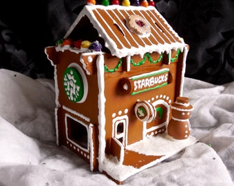 Faux Gingerbread Little Starbucks Coffeeshoppe