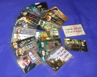 BOGO Sale Summer Clearance Wizard Magic Inspired Luggage Tags - Snape, Hermione, Bellatrix, Dobby, Luna & More