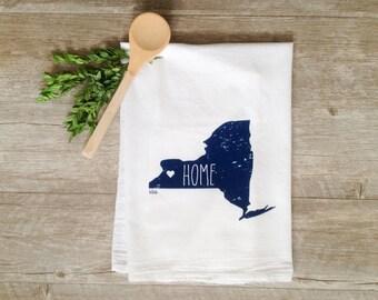 Tea Towel - New York Towel Buffalo NY Kitchen Towel Buffalo Flag 716 Home Decor Buffalo Home Decor Rustbelt WNY Buffalo Towel State