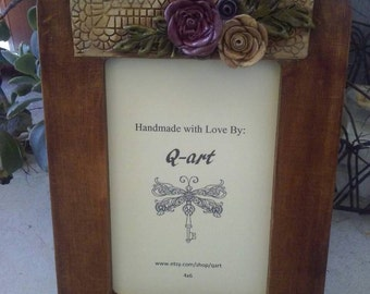 Picture frame. Shabby chic picture frame