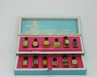 Vintage Parfums De France French Parfum Boxed Set Perfumes Fragrances Boudoir Set France Souvenir