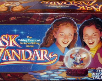 Vintage Ask Zandar Electronic Fortune Telling Board Game Complete 1992
