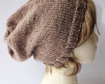 Simply Slouchy Hat Knitting Pattern, Knit Beanie Pattern, Slouchy Hat Pattern, Slouchy Beanie Pattern, Hand Knit Hat Tutorial