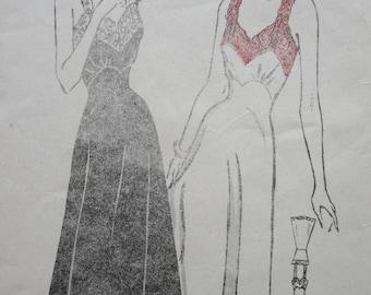 Vintage Butterick 4654 Sewing Pattern, 1940s Slip Pattern, Bias Cut Slip 1940s Sewing Pattern Bust 30, 1940s Lingerie Pattern, Forties Slips