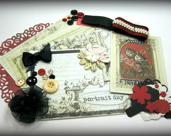 Prima Everyday Vintage Inspiration Kit Embellishment Kit Life Project Kit for Scrapbook Layouts Cards Mini Albums Tags and Paper crafts 1