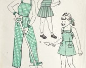 Vintage 40s Butterick Overalls Sewing Pattern Sz 4