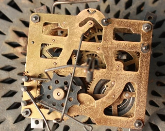 Cuckoo Clock Movement Gears Large Size Vintage Ephemera