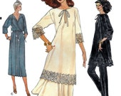 Vogue 7155 Women's 70s Dress or Tunic, Skirt and Pants Sewing Pattern