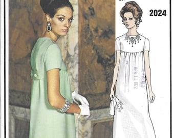 Vogue Paris Original 1960s Christian Dior 2024 Empire Waist Evening Gown Bust 36 Sewing Pattern