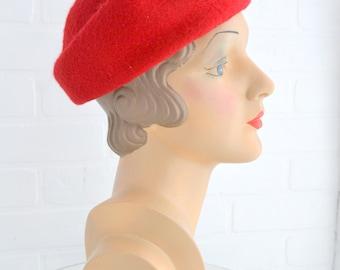 1960s Red Felt Hat