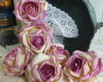 BULK SALE/210 Large Rose Cream Parchment Paper Rose Buds Wedding Floral Decorations
