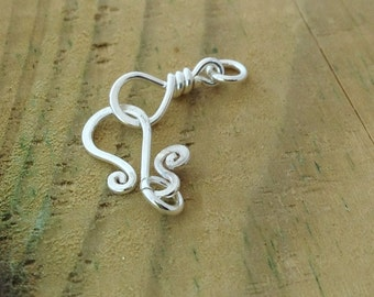 Sterling Silver clasps, sterling silver findings, silver hook clasp,bracelet clasps, necklace clasp, spiral clasp, jewelry supply, supplies