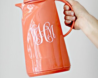 PERSONALIZED Pitcher - orange pitcher -Acrylic pitcher - Monogrammed pitcher - kitchenware