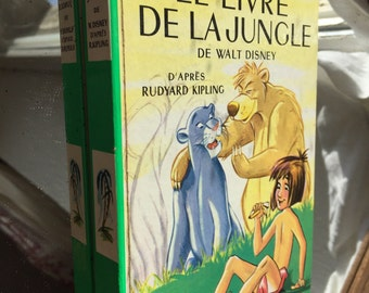 The Jungle Book 1967, Rudyard Kipling, Vintage French book, Kid's reading gift, old School book, African Jungle Tale, Disney's jungle book
