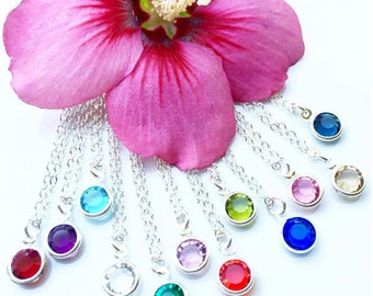 Birthstone Faceted Glass . Necklace