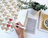 Wedding Book Alternative, guest book, wedding guest book, 3d guest book, wedding guestbook, guest sign in, heart guest book