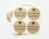 Kraft Round Circle Custom Personalized Instagram Handle / Hashtag Sticker Labels – Etsy Seller Packaging, Small Business, Social Media