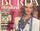 Spring Summer 1993 Burda International Fashion Magazine and Sewing Pattern Book