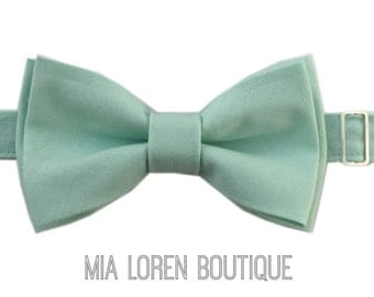 Dusty Blue Bow Tie, Adult & Children, Grey Blue Cotton Bow Ties, Made in the USA, Save 10% on 5 or more, Use code TENOFF5 at checkout