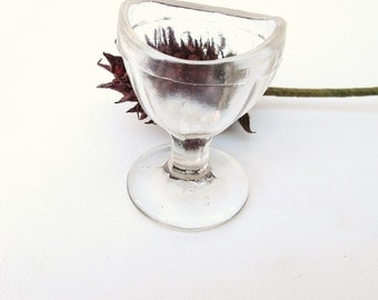 Vintage Eye Wash Cup | Optical Tool | Eyewash Utensil | Glass Medical Tool | First Aid Eye Bath