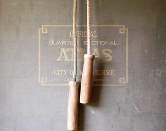 Vintage Wood Handled Jump Rope - Great Mudroom Decor!