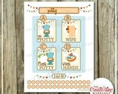 Potty Routine Chart | Neutral or Orange Theme | Potty Training Chart | Printable Potty Chart | Potty Training | Instant Download