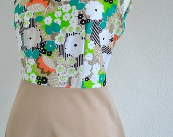 Flower power vintage 60s dress size 16
