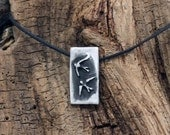 Spring Sale 10% Two Small Swallows Pendant in fine silver pewter