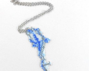 Kingdom Hearts Necklace - Diamond Dust Keyblade Necklace Kingdom Hearts Jewelry Pixel Necklace Video Game Necklace 8bit Jewelry Geeky Gifts