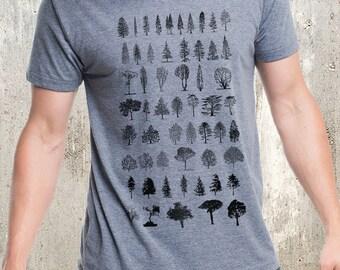 Men's Tree Diagram T-Shirt - Men's Screen Printed Tri-Blend T-Shirt - American Apparel