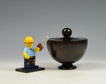 Burr African blackwood wooden box, woodturning, gift,