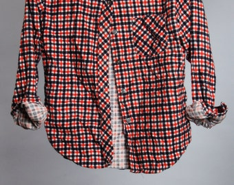 Small Vintage Flannel Womens Fitted Flannel | Red Black | 6BB
