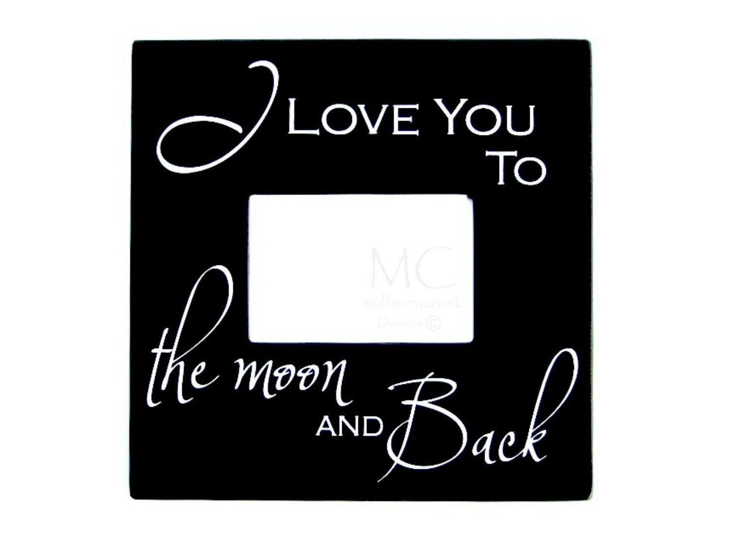 love you to the moon and back wood photo frame picture frame moon frame zoom