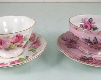 Vintage Teacups Saucers Lefton China Royal Albert Princess Anne China