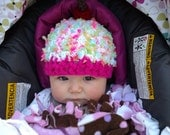 Baby Cupcake Crochet Hat--Perfect Newborn Photo Prop--Choice of 2 colors