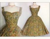 Vintage 1950s Dress//50s Skirt//Matching Top//Set//Rockabilly//Full Circle//New Look//Mod//Margie Webb