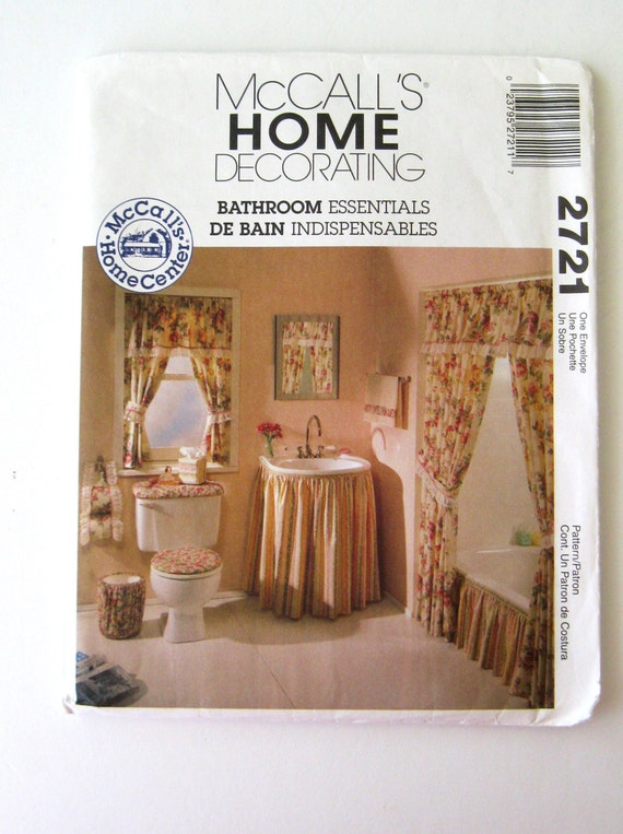 Bathroom Accessories Home Decor Sewing Pattern Mccalls 2721