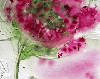 Queen Anne's Lace Floral Watercolor Art Print, 12 x 16 Floral Print