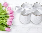 Baby Shoes- Toddler Shoes- Soft Sole Shoes- Infant Shoes- Sparkle Shoes- Shoes Rhinestone Shoes- Wedding Shoes Sparkle- Baby Shoes Keepsake