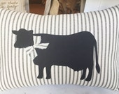 Cow Pillow Farmhouse Pillow