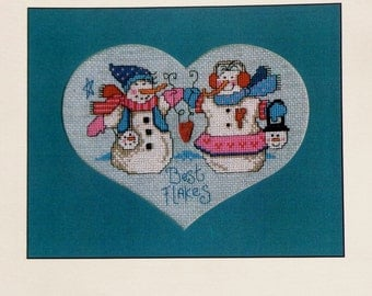 Counted Cross Stitch Pattern BEST FLAKES By Diane Arthurs For Imaginating
