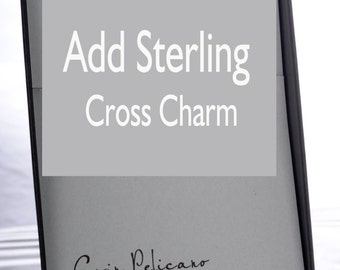 Add a CROSS charm / Charm Necklace / Sterling Silver delicate jewelry